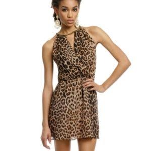NWT! Parker Lynx Leopard Printed Silk Dress